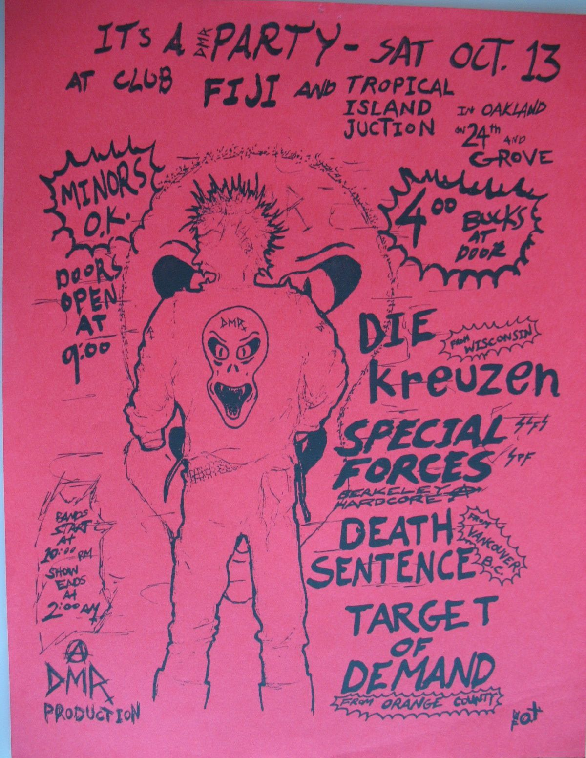 1984-10-13 Club Fiji, Oakland, CA